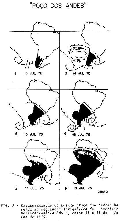 Imagens do satelite mostra onde atingiu a geada de 1975 que dizimou o café